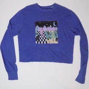 pullover crewneck sweater retro